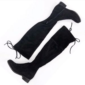 Pre owned black over the knee boots size 6